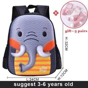2020 New 3D Cartoon Children Backpacks Kid School Bags Baby Cut Toddler Girl Boys Book Bag Animal Backpack Kindergarten Bag - 01-2