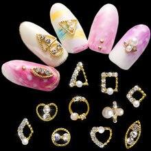 10 шт золотые украшения 4 12 мм 3d для ногтей Кристаллы металлические