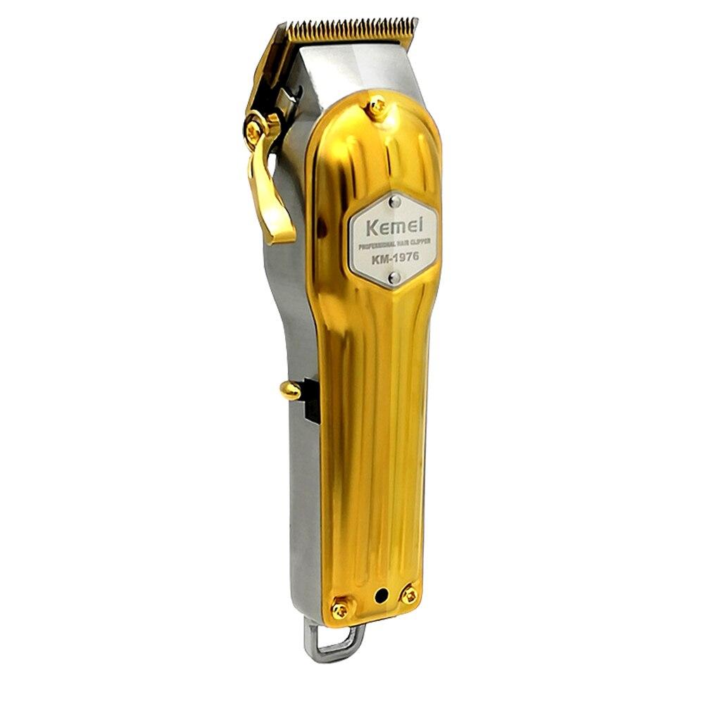 Cordless All Metal Kemei Professional Electric Man Hair Cutter Powerful Hair Trimmer Beard Mustache Modelling Hair Clipper