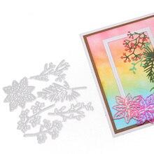 New 6Pcs/Set Flower Leaf Metal Cutting Dies Stencils for DIY Scrapbooking/photo Album Decorative Embossing Paper Card