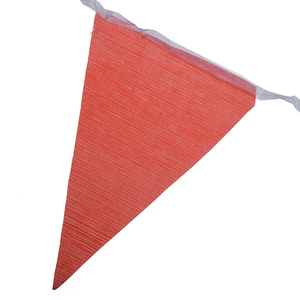 Image 5 - 100pcs Colorful Bunting Banner Flags Pennant Chain Garland Bunting Flag Chain Garland Birthday Festive Party Decoration