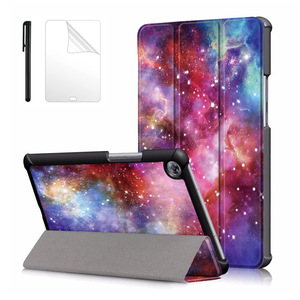 Умный Магнитный чехол-подставка для планшета Huawei Mediapad M5, 8,4 дюйма, с принтом из искусственной кожи, с рисунком, для Huawei Mediapad M5, 8,4 дюйма, защитн...