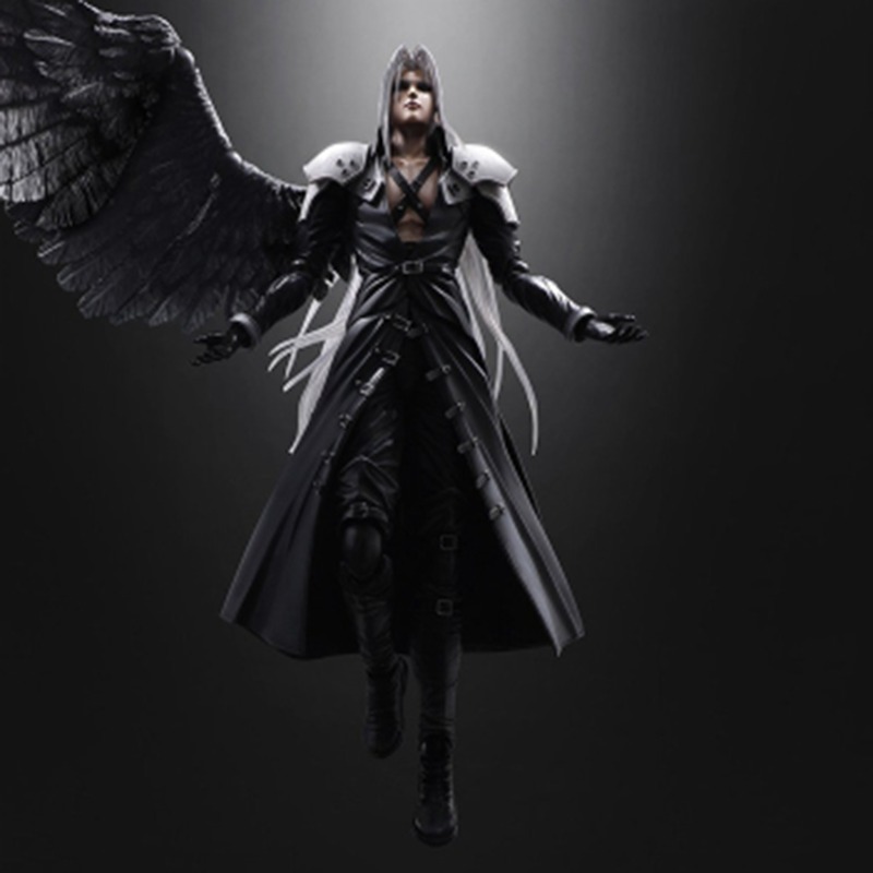 Paly Arts Kai <font><b>Finals</b></font> <font><b>Fantasys</b></font> VII <font><b>7</b></font> Sephiroth PVC Action Figure Movable Model Collection Hobby Doll Newest Toy Best Fan Kid Gift image