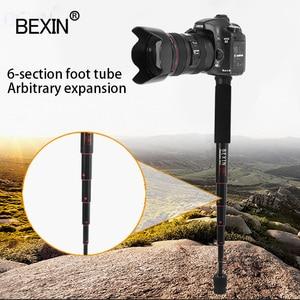 Image 4 - BEXIN mini portable lightweight camera monopod 122cm expansion length tripod support rod aluminum material for dslr SLR camera