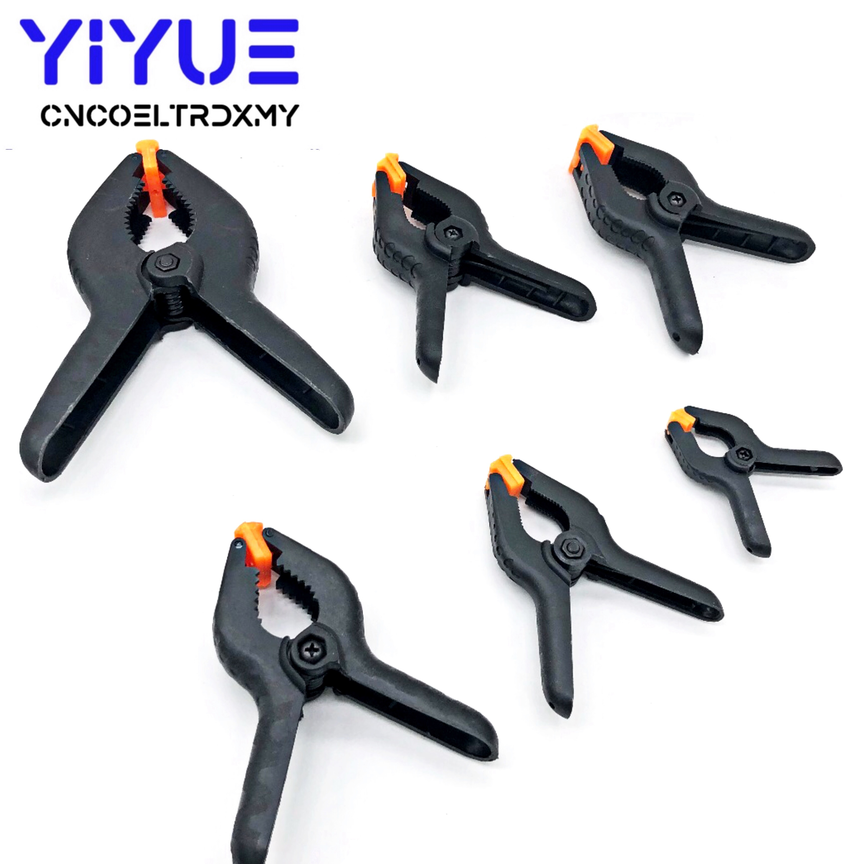 9 inch New 3 Sizes 9 Strong High Quality A Type Multifunctional Plastic Clips Spring Clip Clamps for DIY Woodworking Tools Black