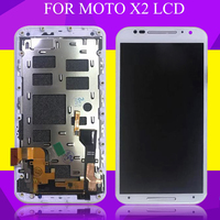 HH For MotoRola Moto X2 Display With Touch Screen X 2nd Gen Lcd Digitizer Assembly 5.2 Xt1092 Xt1095 Xt1097 Display+Frame