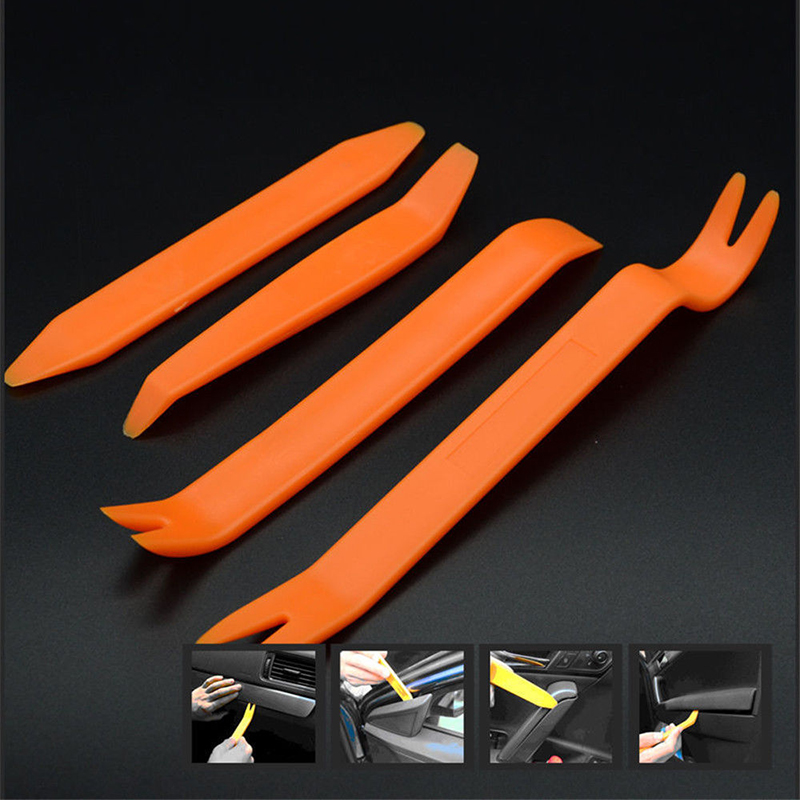 4pc Upholstery Car Trim Removal Pry Panel Door Interior Clip Remover Tools Kit