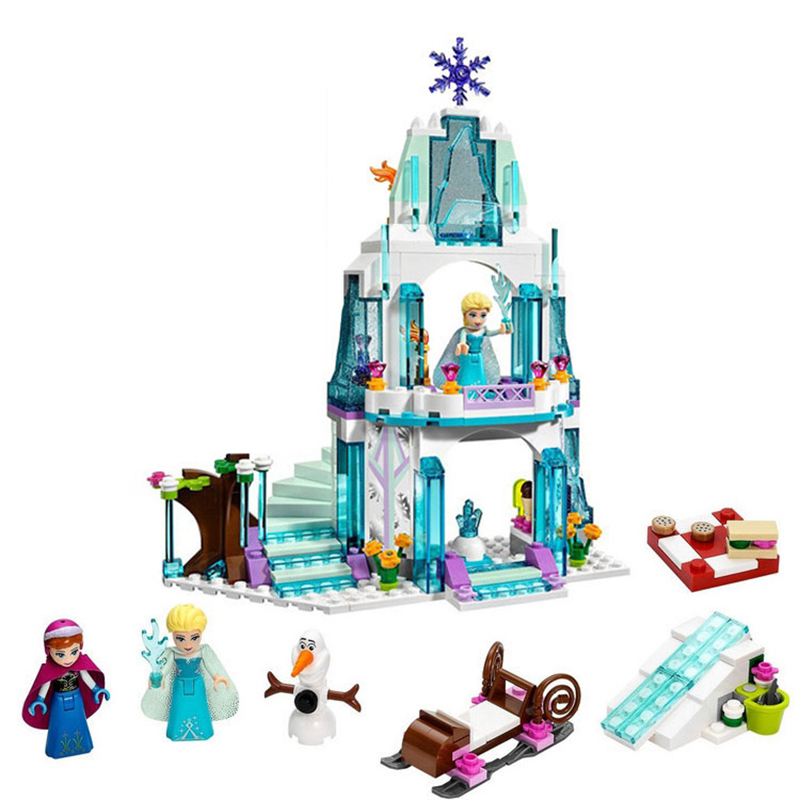 Lepining Princess Snow Queen Ice Castle Snow Figures Building Blocks Compatible Friends City Bricks Toys For Children Christmas image