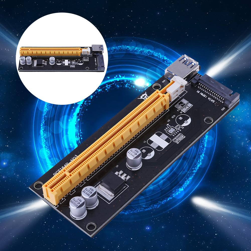 Graphic-Card-Adapter Mining-Cable-Kit PCI-E 1x-To-16x-Extender VER007S for LTC