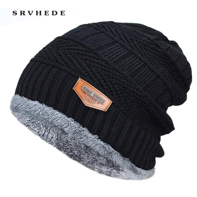 2020 Winter Hats For Men Skullies Beanie Hat Winter Cap Men Women Wool Scarf Caps Set Balaclava Mask Gorras Bonnet Knitted Hat 2