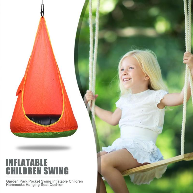 Garden Park Pocket Swing Inflatable Children Hammocks Hanging Seat Cushion