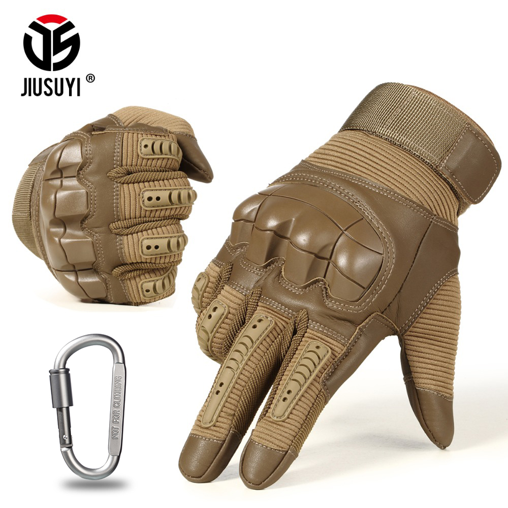 Military Tactical Rubber Hard Knuckle Joint Full Finger Gloves Army Paintball Shooting Airsoft PU Leather Touch Screen Gloves