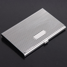 Stainless steel business card box male and female personality clip