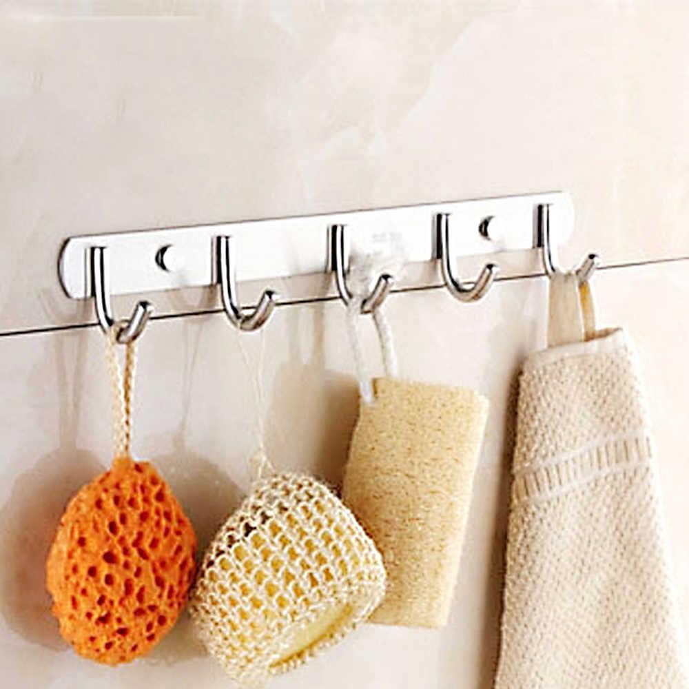 4-7 крючков SUS304 доска из нержавеющей стали домашняя настенная для ванной, кухни, спальни вешалка для полотенец
