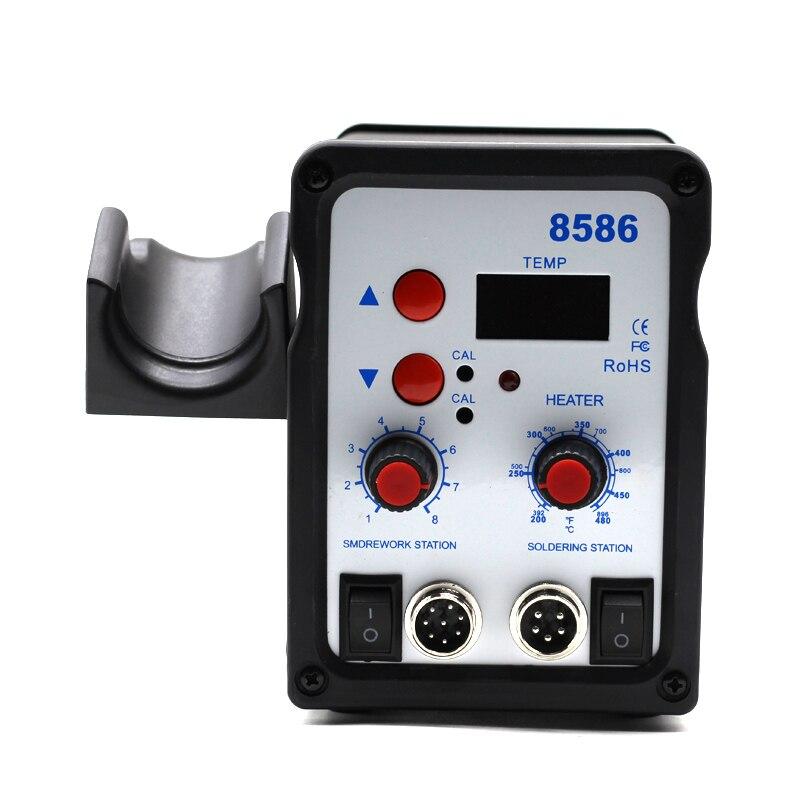 8586 паяльная станция SMD BGA паяльная воздуходувка Сварка тепловой пушкой паяльник инструмент для ремонта