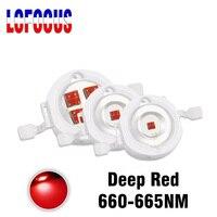 Echt 1W 3W 5W Deep Red 660nm LED Chip COB SMD Diode Lampe DIY LED Wachsen Licht für Indoor Anlage Gemüse Obst Wachsende Aussaat-in Leuchtperlen aus Licht & Beleuchtung bei