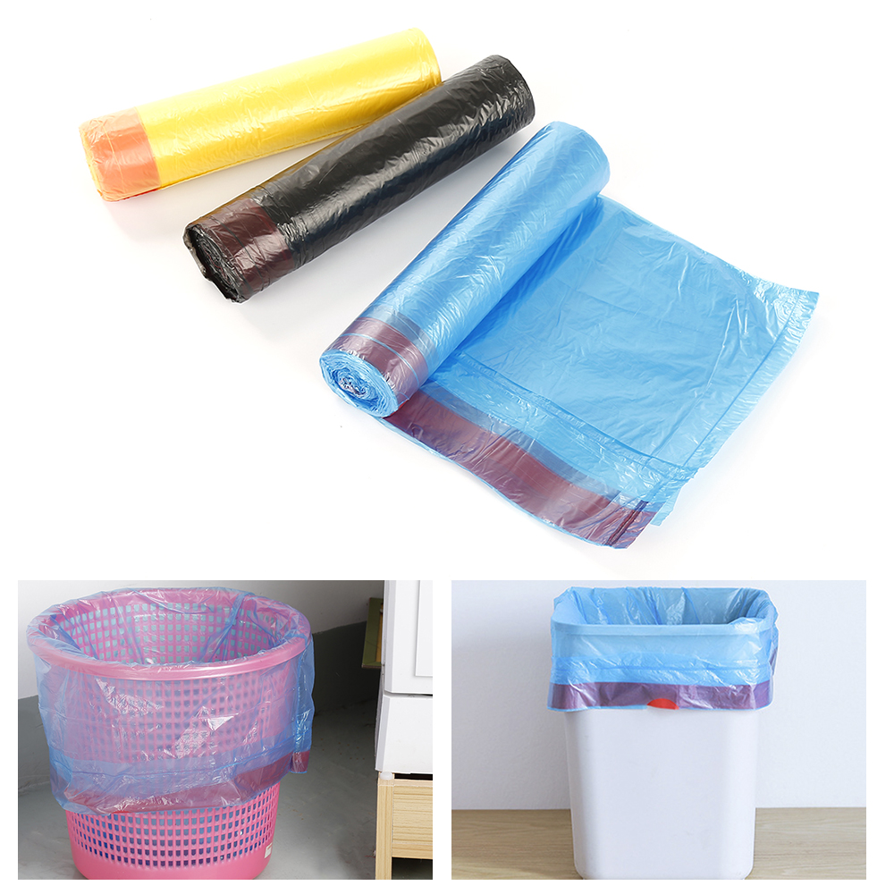 Drawstring Garbage Bag Color Point Break Portable Garbage Bag Automatic Closing Thickening Kitchen Trash Bags Drop Shipping