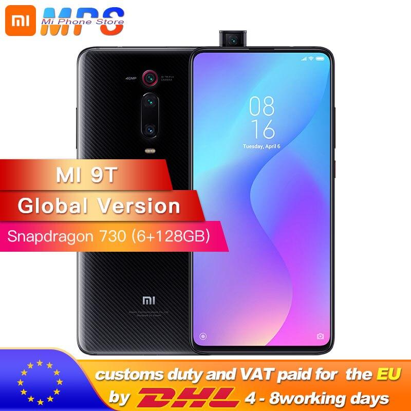 Versão global mi 9 t (vermelho mi k20) 6 gb 128 gb smartphone snapdragon 730 48mp câmera traseira pop-up câmera frontal 6.39