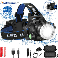 Headlamps Powerful Led Headlamp L2/T6 Zoomable Headlight Head Torch Flashlight Head lamp by 18650 battery for Fishing Huntingz30 led headlamp lantern xml l2 5000lm head lamp flashlight torch t6 headlight lanterna headlamps flashlights use 18650 battery