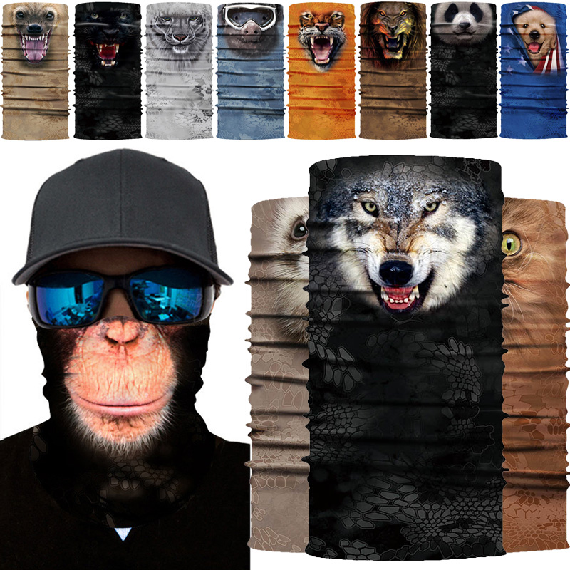 New Scarf Full Function Face Casual Unisex Multicolor Neck Tube 3D Printed Biker Ski Snood Sunscreen Bandana Headbands