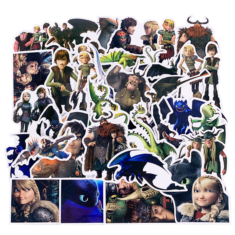 42pcs How To Train Your Dragon Night Fury Toothless DIY Decorative Sticker Motor  Phone Case Notebook Scrapbooking Stickers