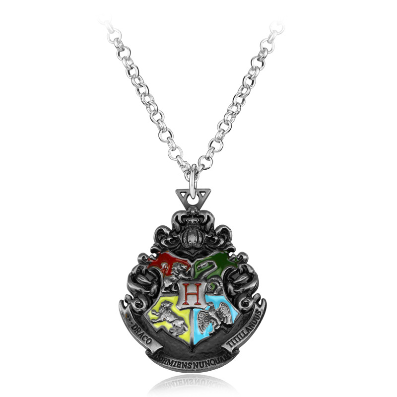 Hot Sales New Style Harry Potter Four College Pattern One Badge Metal Keychain Pendant