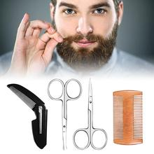 Beard Styling Shaping Template Comb Barber Tool Symmetry Line Up Trimming Guide Shaving Accessories Maquillaje TSLM1