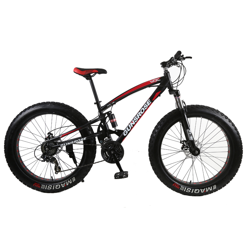 24 Inch Fat Tires Bike Adult Snow Beaches Mountain Bikes 7/21/24/27 Speed Outdoor Sport Disc Brake Carbon Steel Student Bicycle