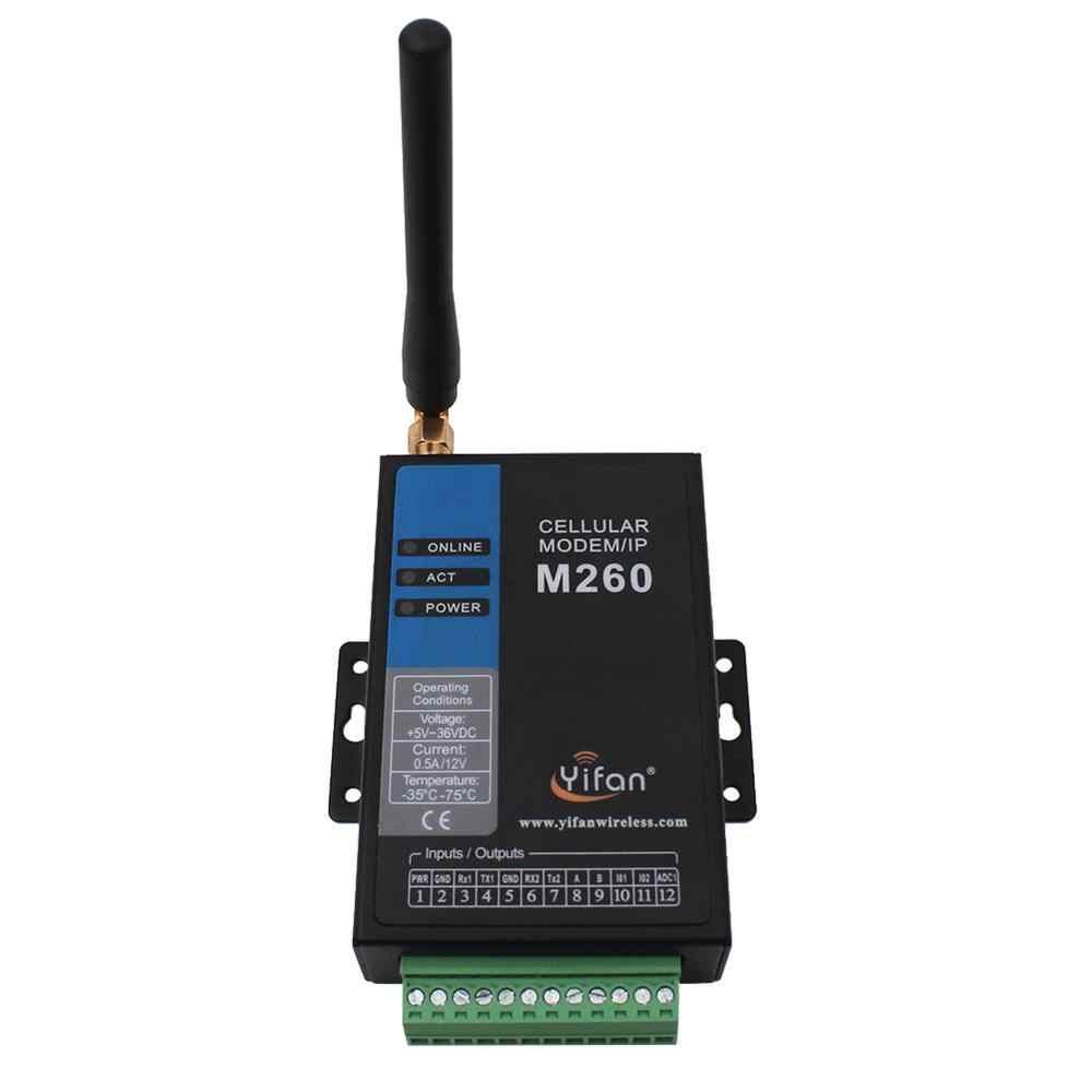 M260-G RS232 RS485 Modbus Промышленные gprs модем с IO для телеметрии SCADA AMR