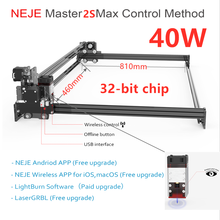 2021 NEJE Master 2S Max 40W CNC Professional High Power Laser Cutting Machine Engraving Machine Lightburn Bluetooth App Control