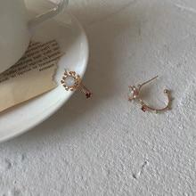 drilling petal earpins colliding  geometric vintage  earrings for women  fashion  rhinestone  bohemian earrings цена 2017