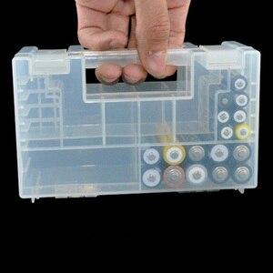 Image 2 - מעשי ללבוש עמיד סוללה מקרה אנטי השפעה קשה פלסטיק תיבת אחסון גדול קיבולת מיכל פנימי תא AA AAA
