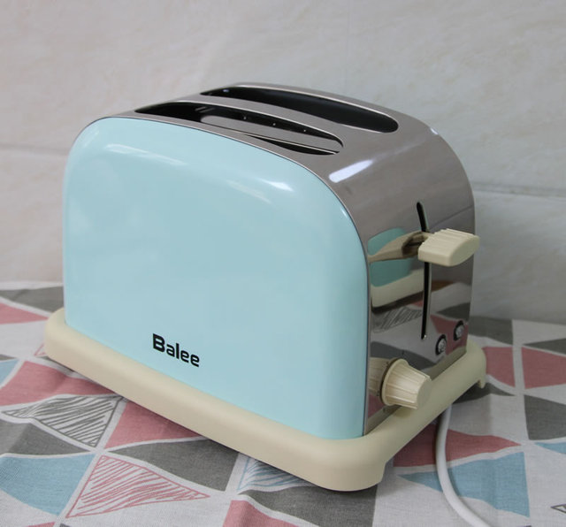 Retro Home Stainless Steel Automatic Toaster Tumbler Toaster 2 4