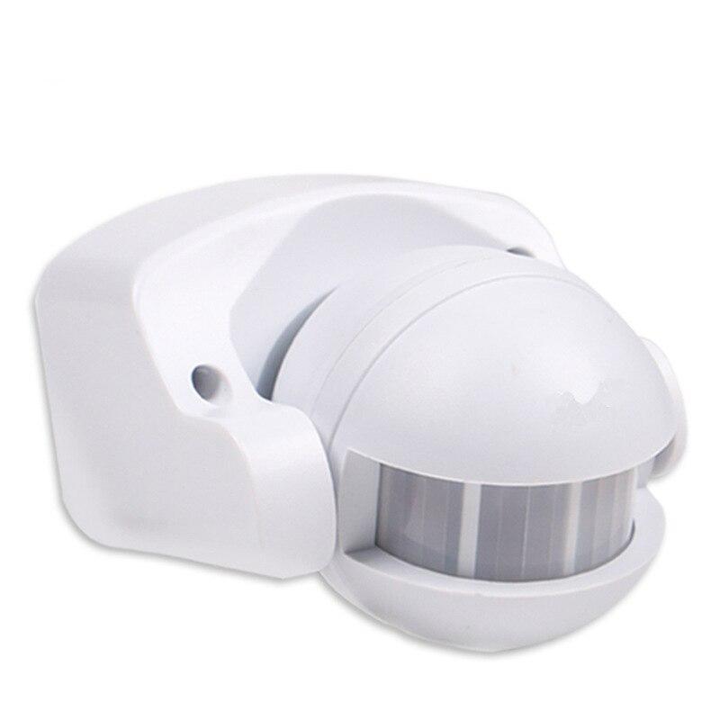 Sensor de movimento infravermelho pir, sensor de movimento detector de 220 graus uso externo ac 240v-110v 180 v ip44 interruptor de movimento máx 12m 50hz 3-2000lux