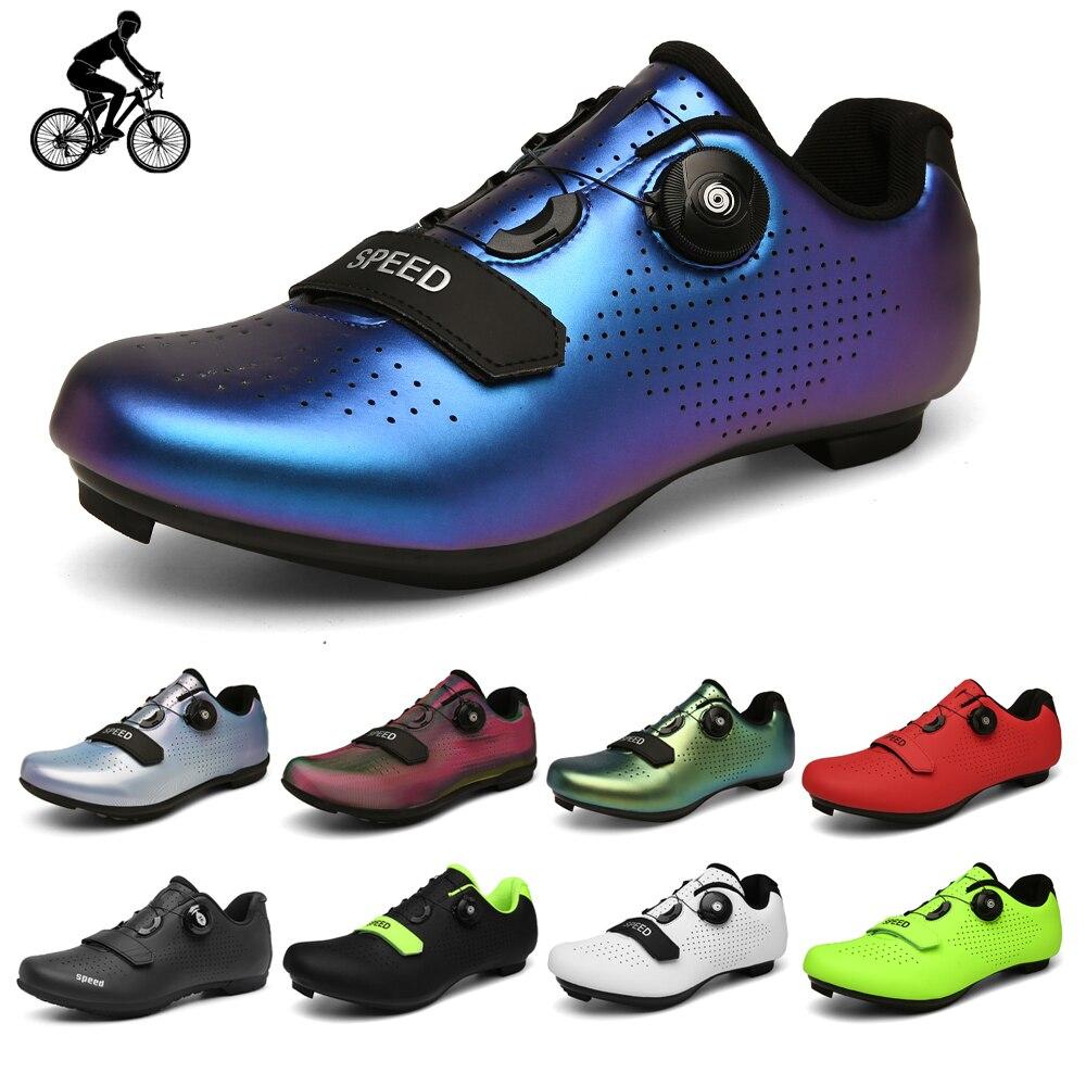 Кроссовки велосипедные для мужчин и женщин, резиновая обувь, твердая подошва, клипсы, шоссейный велосипед