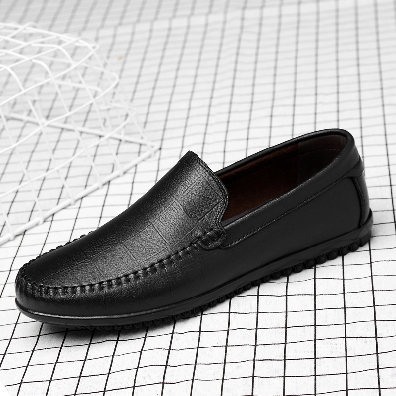 Men Genuine Leather Designer loafers Shoes slip on Soft Fashion outdoor Brand Flats British Comfy Luxury men shoes moccasins s5