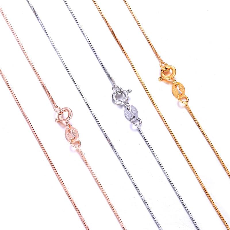 Цепочка из серебра 925 пробы, 40/45/50/55/60 см|Ожерелья| | АлиЭкспресс