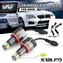 2pcs 120W H8 LED מלאך עיניים ערפל אור Halo טבעת פנס 6000K עבור BMW E60 E61 E63 x5 E70 X6 E71 E90 E91 E92 E93 M3 E89 E82 E87