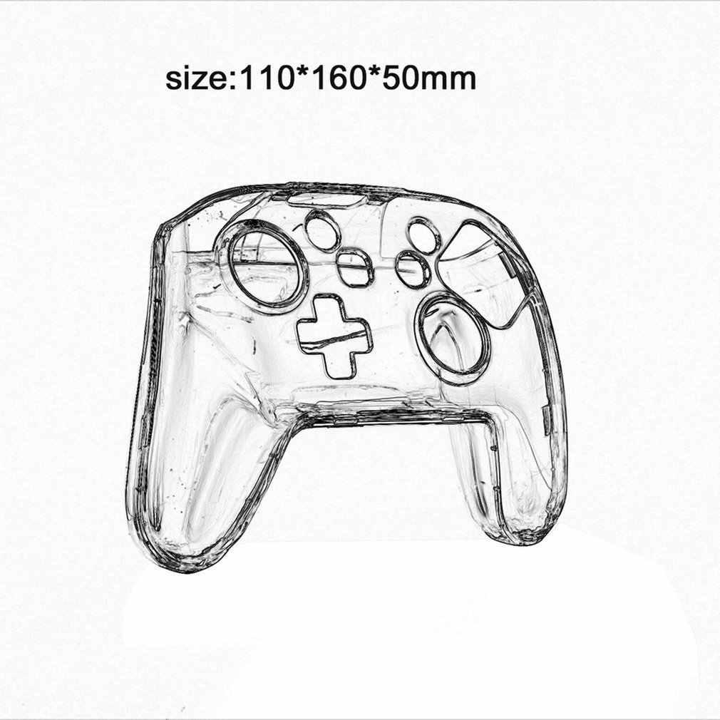 Kjh Transparant Clear Crystal Case Hard Controller Beschermhoes Handle Shell Voor Nintend Schakelaar Pro Controller