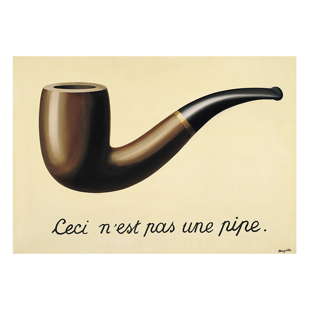 The Treachery of Images This Is Not a Pipe by René Magritte 5