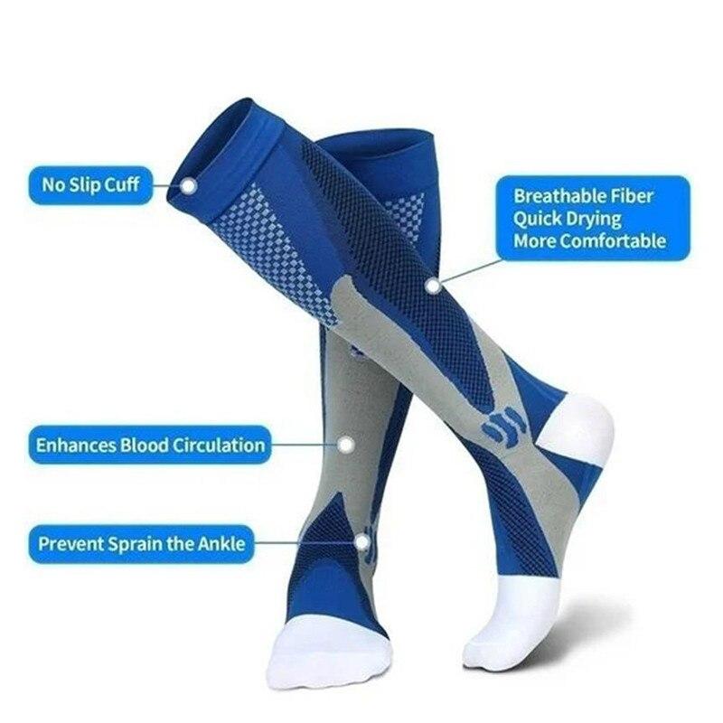 1/2/3 пар Для мужчин Для женщин Для мужчин компрессионные носки спортивные носки медицинских послеоперационных чулки от варикоза вен на откр...