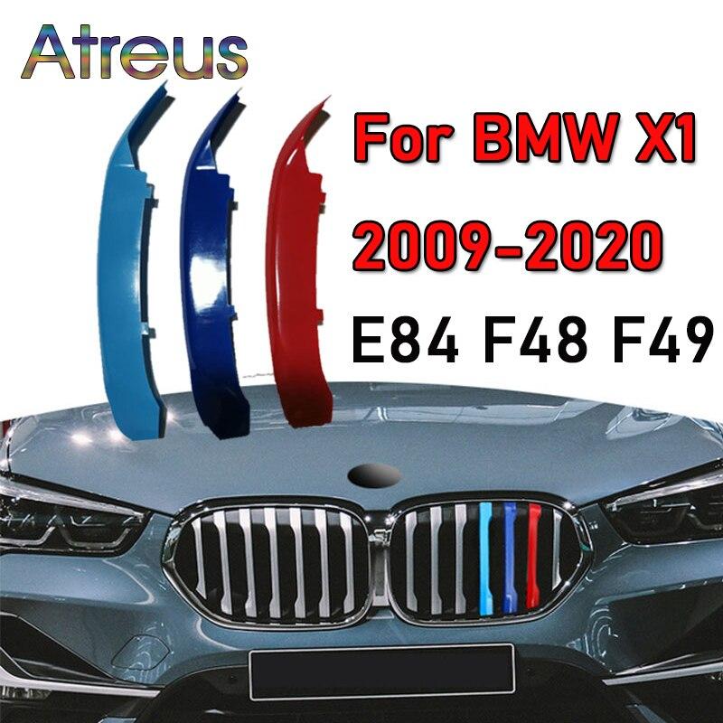 Наклейка на решетку радиатора автомобиля из АБС-пластика, 3 шт., наклейка-полоса для BMW F48, E84, F49, X1, 2020, 2019, 2108, 2017, 2016, 2015, 09-14 м, стильные аксессуар...