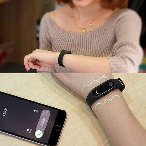 Image 5 - M2 braccialetto sportivo intelligente frequenza cardiaca rilevazione dellossigeno nel sangue monitoraggio del sonno sano pedometro braccialetto sportivo intelligente