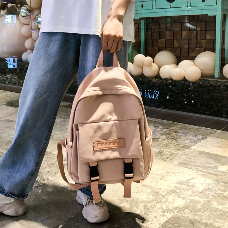 Women Canvas Backpack Travel Bookbag Student School Bags For Teenage Girls Casual Daypack