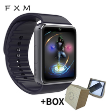 FXM New Digital Bluetooth Smart Clock MenSmart Watch Bbracelet Independent Card Sports Pedometer Camera Bluetooth Call Reminder