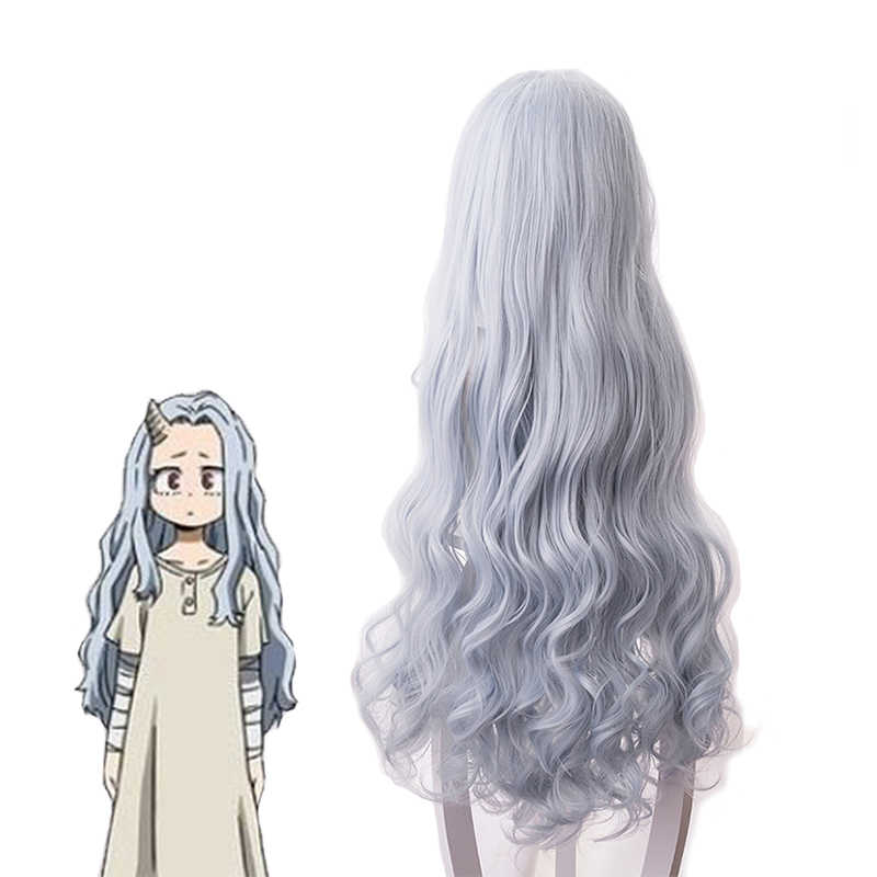 Mha Eri Cosplay Wig Bnha Anime Hair Bluish Gray Long Curly Center Parting Synthetic Wigs For Halloween Party Aliexpress Some lighting practie and revamping of my personal artstyle featuring cute little eri ^^. mha eri cosplay wig bnha anime hair