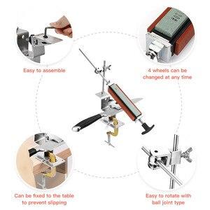 Image 3 - Sistema professionale per affilare i coltelli da cucina con 4 pezzi di pietre per affilare + lega di alluminio + Set di strumenti per affilare i coltelli con clip G