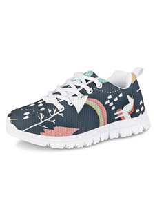 HYCOOL Sneakers Sport-Shoes Running-Footwear Comfortable Girls Outdoor Rainbow Mesh Unicorn-Print