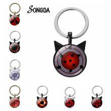 Anime Sharingan Eye Key Chain Uchiha Sasuke Itachi Women Keychain Key Phone Accessories
