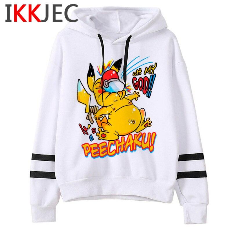 Pokemon Go Funny Cartoon Warm Hoodies Men/women Cute Pikachu Japanese Anime Sweatshirts Fashion 90s Steetwear Hoody Male/female 16